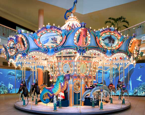 Colorful indoor ocean carousels for sale