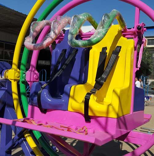 seats of human gyro ride