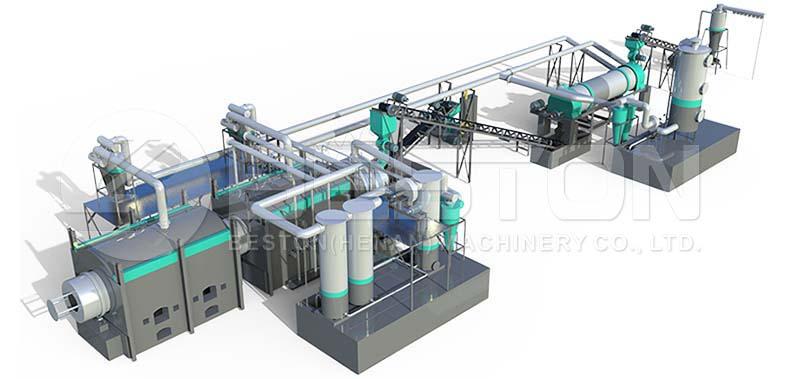 Layout of Charcoal Machine