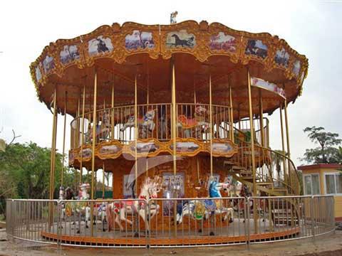 two decker carousel ride